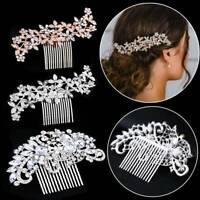 Bridal Diamante Crystal Hair Pins Clips Side Hair Comb Wedding Rhinestone Decor