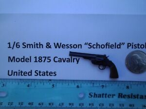 "F2     1/6 Smith & Wesson ""Schofield"" Pistol Model 1875 Cavalry United States"