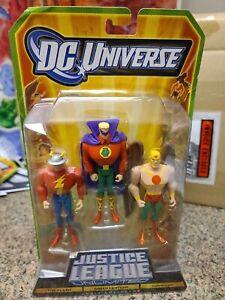 DC Universe JLU Justice League Unlimited The Flash, GREEN LANTERN HAWKMAN 3 pack