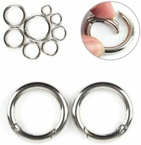 large & small ROUND CARABINER CLIPS Clip ~ SNAP HOOK Key Ring Buckle Handbag Bag