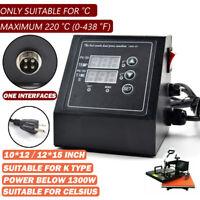 US Plug 110V Digital Control Box Temperature Time For Heat Press Machine New