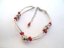 Coral Silver Bracelets Asian Jewellery