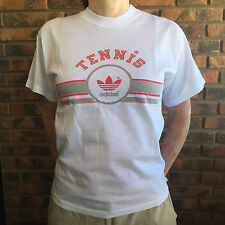 Adidas T shirt 1986 ORIGINAL NIB NOS camiseta vintage tennis lifestyle white kid