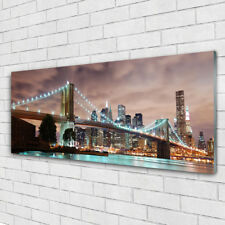 Acrylic print Wall art 125x50 Image Picture Bridge City Architecture