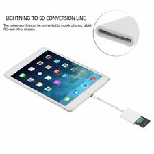 Lightning To SD Card Camera Reader Adapter Cable Apple IPhone IPad Pro Air Mini