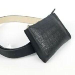 steve madden embossed leather belt bag purse nwt