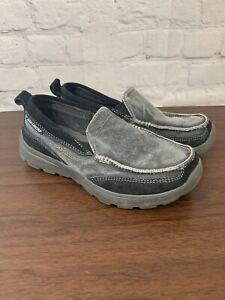 Kids 93891L Superior - Melvin Relaxed Fit Dress Shoe Charcoal Memory Foam 2 EUC!