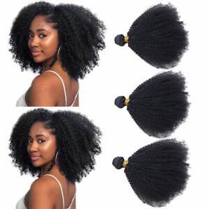 Afro Kinky Human Hair Bundles 4B 4C Unprocessed Virgin Hair Bundles Weave 300g