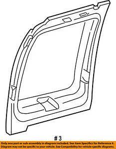 FORD OEM E-350 Econoline Club Wagon Back Door-Window Trim Left XC2Z1642411AAA