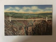 Panorama of the Royal Gorge and World's Highest bridge from south rim observatio