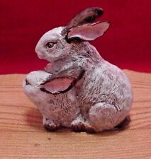 White Rabbit Bunny Resin Table Top Statue Figurine