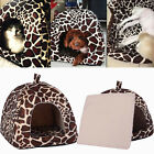 Foldable Soft Warm Strawberry Kennel Bed Nest House For Pet Dog Cat Piggy Mat