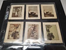 1926 Millhoff & Co. De Reszke ART TREASURES Lot of 6 cards Tobacco Cigarette