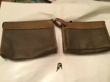 PAIR (2) Vintage Charles Jourdan Paris Toiletries Bag and Tote w/ Locks and Keys