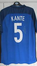"""SIGNED """" N'GOLO KANTE - FRANCE """" 2016 HOME Shirt (COA)"""