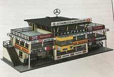 START FINISH BUILDING NURBURGRING 1960'S HO SLOT CAR BUILDING AURORA BAUER LASER