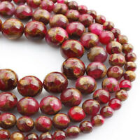 Natural Red Stone Loose Beads Making Jewelry 15 inches Strand Diy Top