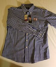 1753cfbe3 New York Giants Royal White National Woven Long Sleeve Button-Down Shirt