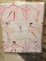 Pottery Barn Kids Ballerina Twin Sheet Set Pink Ballet Dancer New