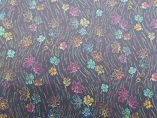 "LIBERTY of London Tana Lawn Tessuto ""hilandmich a' 2.55 METRI nero a fiori"