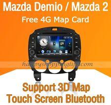 2 Din Car Dash DVD Radio Stereo GPS Navigation Bluetooth USB for Mazda 2 Demio