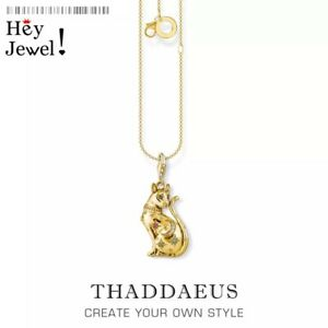Necklace Golden Cat with Star,2021 Summer Brand New Cute Fine Jewelry 925 Gift