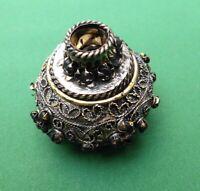 New Selut Mendak Keris Java Brass gold colored blackened black stones MAC08
