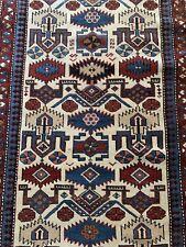 Stunning Antique handmade Caucasian kazak rug size 200cm x 140cm