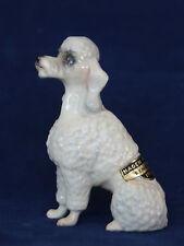 Hagen-Renaker Rembrandt White Poodle Dog W 1953 Sticker, H-R, Finely Detailed