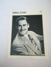 Errol Flynn - Fiche cinéma - Portraits de stars 13 cm x 18 cm