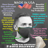 The Best 3D Face Mask w/ Pocket 👓 NO fogging up +✌2 HEPA ✪Made USA High-Quality