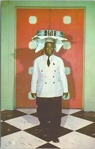 Photo Post Card Black Waiter at French Lick Sheraton Hotel French Lick IN 1961