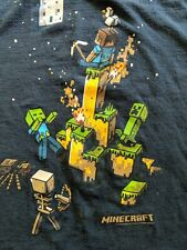 Minecraft Iron Golem Navy Blue Color Youth's Licensed T-Shirt