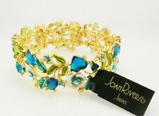 Joan Rivers Enamel & Crystal Hearts & Flowers Bracelet  Average BLUE