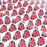 I Love Great Britain Union Jack Fabric per 1/2 metre/fat quarter 100 % cotton