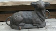 Old Gray Lamb Mold Cast Iron Cake Design Home Kitchen Restaurant Cottage Decor