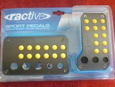 Ractive Sports Racing Pedals Yellow Black Dots Gas & Brake Auto Transm TP-701AYL