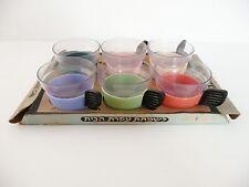 LOT DE 6 TASSES PLASTIQUE KITCH ANNEES 70 VINTAGE DESIGN A NETTOYER