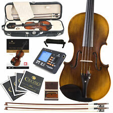 NEW CECILIO Full Size 4/4 1-Pc HIGH FLAMED BACK VIOLIN