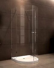 New Curved 3-Sided shower screen with base 8mm Glass 900X900X1950