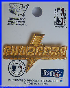 LOS ANGELES / SAN DIEGO CHARGERS Gold Lightning Bolt LAPEL / HAT PIN ~ BRAND NEW