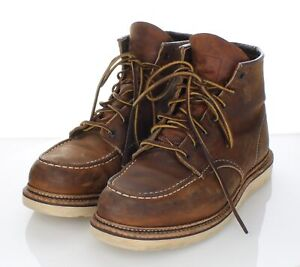 T4 $290 Men's Sz 10.5 D Red Wing 1907 Classic Moc Toe Leather Boot