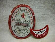 Guinness Brite Lager 3.2%/7% 12 Oz. Beer Label~Goebel Brg.,Detroit,Michigan