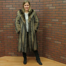 ladies real CANADIAN RACCOON FUR COAT small petite NICE free ship usa