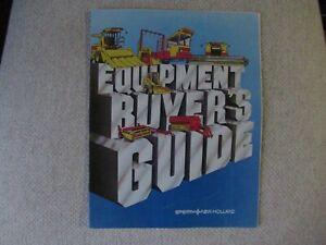 1981 Sperry New Holland farm equipment buyer's guide catalog brochure