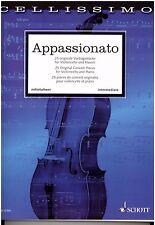 Violoncello  + Klavier Noten : APPASSIONATO - 25 originale Vortragsstücke - MS