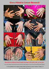"""Iditarod """"Hands' Cancer Poster -- """"Give a Hand to Cancer Research"""""""