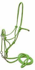 Showman LIME GREEN Nylon Rope Bitless Bridle With Nylon Reins! NEW HORSE TACK!