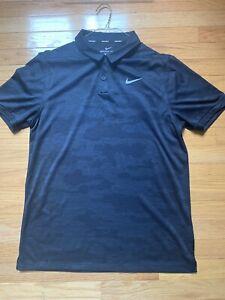 Nike Golf Camo Polo Medium Navy
