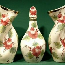"MONUMENTAL SET 17"" handpainted ART VASES BAUDOUR"